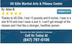 Thanks to US Elite, I lost 13 pounds and 6  inches.  I was in a size 9/10 and now I wear a...