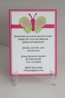 Butterfly Invitation...change rhyme