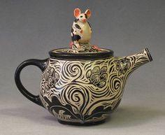 Mouse teapot ~ Deb Kuzyk & Ray Mackie, Lucky Rabbit Pottery