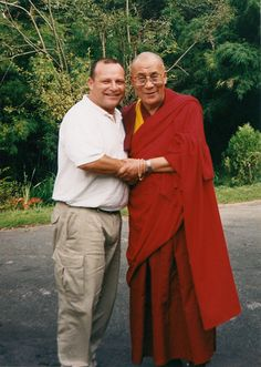 """The purpose of our life is to be happy.""  ~ HH Dalai Lama with photographer Rich Bauer"