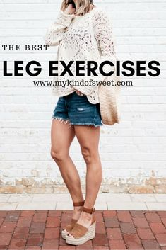 My Favorite Leg Exercises + The Best Cut-Offs   my kind of sweet   fitness inspiration   leg workout at home   mom life   mom style   free people   levis   summer style   best leg workout   espadrilles   women's fashion   what to wear   casual style   postpartum body   body after baby #style #fashion #fitness #fitnessmotivation