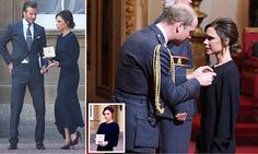 Victoria Beckham receives OBE from the Duke of Cambridge