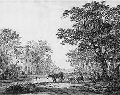 Forest landscape - Jacob van Strij