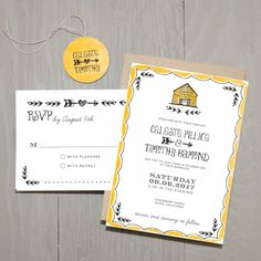 Rustic Barn Wedding Invitations | Smitten on Paper