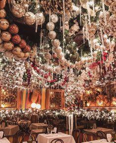 Rolf's German Restaurant | Photo via @katiesbliss New York Christmas, Christmas Travel, Christmas Mood, Christmas Lights, Christmas Decorations, Xmas, Christmas Ornaments, Holiday Decor, Christmas Design