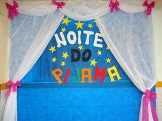decoração noite do pijama na escola infantil - Pesquisa Google