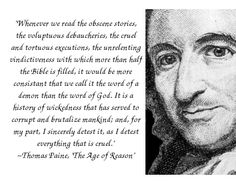 "My favorite quote from Thomas Paine's ""The Age of Reason"""