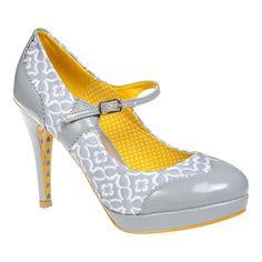 Banned Mary Jane Heel Shoe (Grey)
