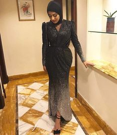 Hijab dress, dresses for hijabi - Hijab+ Hijab Prom Dress, Hijab Evening Dress, Hijab Style Dress, Hijab Wedding Dresses, Hijab Outfit, Prom Dresses Long With Sleeves, Dressy Dresses, Modern Hijab Fashion, Designer Dresses