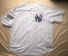Men's Majestic MLB New York Yankees pinstripe jersey Alex Rodriguez #13 size XXL