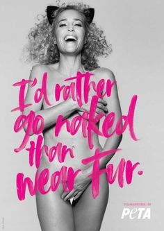 Gillian Anderson goes au naturale for animal rights in a racy new ad for PETA. In the black and white photo, the X-Files actress goes nude, wearing nothing but a pair of cat ears. Gillian Anderson, Fashion Still Life, Fashion Week, New York Fashion, Brad Pitt, Peta Ads, Beyonce, X Files, Animal Rights Organizations
