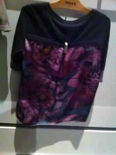 Mexx mixed media top- back Sweatshirts, Sweaters, Mixed Media, Tops, Fashion, Moda, La Mode, Pullover, Shell Tops