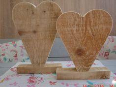 Holz+Herz++Vase++Deko+Dekoherz+Tischdeko+Holzherz+von+DecoTräume+auf+DaWanda.com