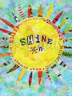 Shine On - Teen/Tween Canvas Wall Art | Oopsy daisy