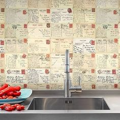 Purldeco Red Postcard Pattern