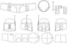 alice brans posted Boba Fett Helmet Blueprints/Templates to their -geeking- postboard via the Juxtapost bookmarklet. Capacete Boba Fett, Boba Fett Costume, Mandalorian Costume, Boba Fett Helmet, Cosplay Helmet, Cosplay Armor, Cosplay Diy, Mandolorian Armor, Armadura Cosplay