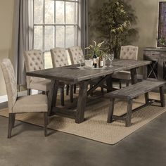 36 Awesome Extendable Farmhouse Table Design Ideas For Your Dining Room. There are many positive circumstances to choosing a classic farmhouse dining table, especially with all the amount of history w. Alpine Furniture, Dining Furniture, Dining Chairs, Muji Furniture, Furniture Decor, Furniture Movers, Room Chairs, Furniture Design, Table Design