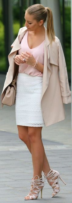 Lace Skirt // Fashion Look by Style And Blog