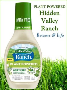 Hidden Valley Ranch Dairy-Free Dressing Reviews and Info (Plant Powered!) - we have info on availability, ingredients, nutrition, and more for this dairy-free, egg-free, vegan-friendly salad dressing.