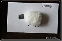 Super easy #toddler #ece #craft for Little Bo Peep or Mary Had a Little Lamb