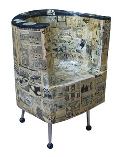 Mad Magazine paper mache chair