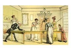 Rowlandson - Billiards.: