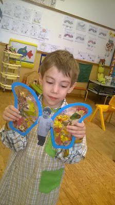 Hora de Brincar e de Aprender - outono Preschool Crafts, Fun Crafts, Crafts For Kids, Art Montessori, Butterfly Crafts, Camping Crafts, Spring Crafts, Projects For Kids, Preschool Activities