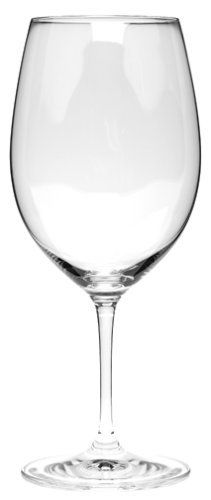 Riedel Vinum Cabernet-Bordeaux Wine Glasses, Set of 2 by Riedel. $49.95. Clear bowl shape designed specifically for red Bordeaux wines; complements other Vinum stemware and decanters. Set or 2 red wine glasses; 21-1/2-ounce capacity. 24 percent lead crystal, machine-made. Hand washing recommended. Made in Bavaria by world-renowned wine-glass maker. Amazon.com                Pour a rich Cabernet or Merlot into this pair of elegant wine glasses to share a toast wit...