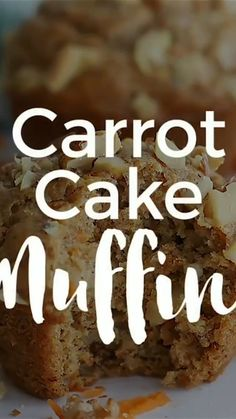 Healthy Carrot Cake Muffins - I used the same base recipe as my blueberry muffins but added in shredded carrots and walnuts No Bake Desserts, Vegan Desserts, Delicious Desserts, Easy Healthy Recipes, Vegetarian Recipes, Cooking Recipes, Carrot Cake Muffins, Base Recipe, Base Foods