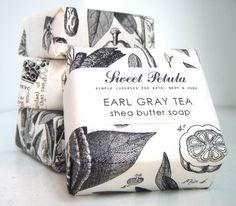 Elegant packaging in blacks and whites.  Love it