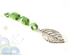 Dreadlock Jewelry with a metallic swirl green color by FoamBubbles, $6.50