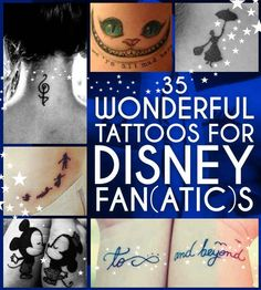 35 Wonderful Tattoos For Disney Fan(atic)s I think the Peter Pan one is my favorite...