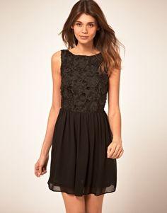 ASOS Skater Dress With Flower Applique. $80.57
