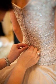 Button beaded back dress
