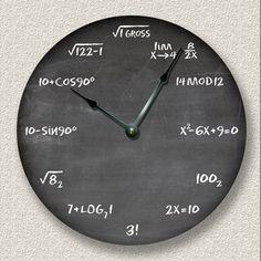 MATH wall CLOCK - chalkboard - teacher student classroom - 3 colors available Math Clock, Clocks Go Back, Math Wall, Handmade Clocks, Wall Watch, Quartz Clock Movements, Art Optical, Wood Clocks, Antique Clocks