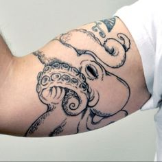 Octopus Tattoo, I find this strange and beautiful <-----  I think I'm gonna get this. I've been looking for the perfect octopus tat and this one is amazing