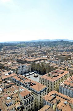 View from the Duomo Belltower, Florence, Italy