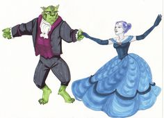 Beast Boy and Raven - This made me giggle.