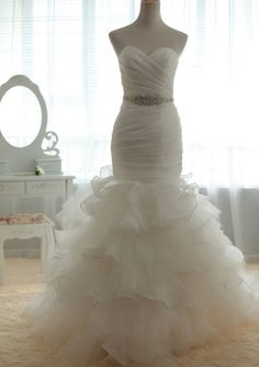 mermaid bridal gown with ruffled bottom - Yahoo Image Search Results