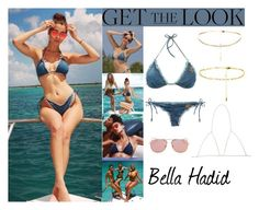 """""""Bella Hadid Turks & Caicos/ Instagram August 10 2016"""" by valenlss ❤ liked on Polyvore"""
