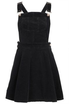 black corduroy overall dress outfit Pretty Outfits, Cool Outfits, Casual Outfits, Grunge Outfits, Teen Fashion Outfits, Cute Fashion, Dress Skirt, Dress Up, Pleated Skirt