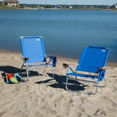 Outdoor Rio Blue Beach Bum Beach Chair - Set of 2 - RIB234-1