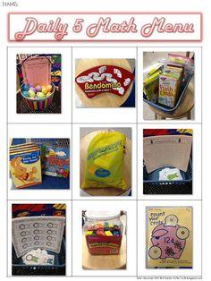First Grade Critter Cafe: daily 5 math