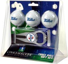 Tulsa Golden Hurricane - 3 Ball Gift Pack with Hat Trick Divot Tool