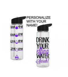Motivational Water Bottle, Water Tracking Bottle, Drink Your Effing Water, Personalized