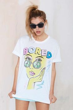 Emma Mulholland Bored Girl Graphic Tee | Shop Clothes at Nasty Gal
