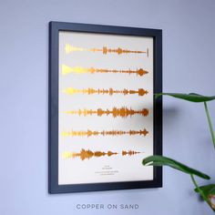 A stunning metallic personalised print designed for music lovers, featuring your favourite song in the format of visual soundwaves, on coloured paper backgrounds.Under your soundwave, we write the song title and artist name in title case. If you want something different to this, please send a note with your order.This striking personalised sound waves print is a great present to invoke those treasured memories. Featuring the 'first dance' song makes for a perfect wedding or anniversary…