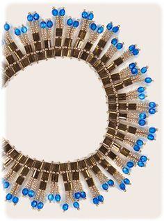 Tila Drop Necklace Pattern by Sandra D. Halpenny