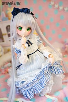Beautiful Barbie Dolls, Pretty Dolls, Cute Dolls, Girls Anime, Anime Art Girl, Lolita Gothic, Doll Toys, Baby Dolls, Kawaii Doll
