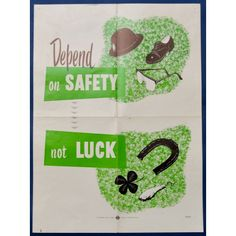 Depend On #Safety - Health & Safety Poster - Pedlars Friday #Vintage - Pedlars Vintage
